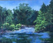 Thames River at Gibbons Park, acrylic, 16 X 20, $250