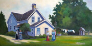 Jury Farmhouse at Pioneer Village, oil