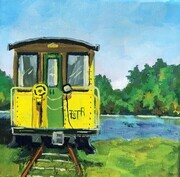 Choo Choo, acrylic painting from Port Stanley