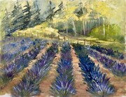 Lavender Field at Sparta, oil on canvas