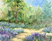 Painting Lavender at Sparta, oil on canvas